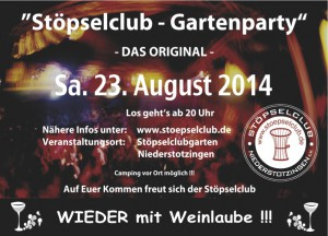 Flyer Gartenparty